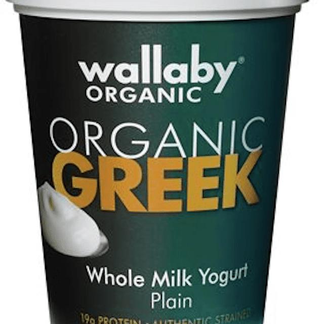 Yogur de leche entera griego orgánico Wallaby natural