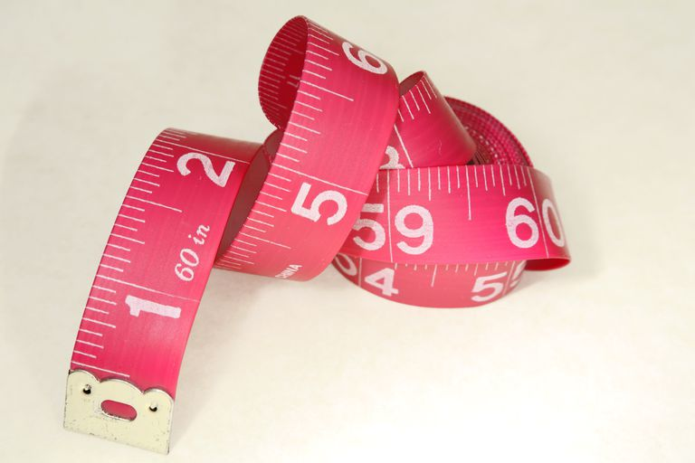 Measuring tape with white background