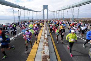 Runners in the ING New York City Marathon in 2013