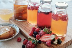 Kombucha second Fermented fruit tea, Probiotic food