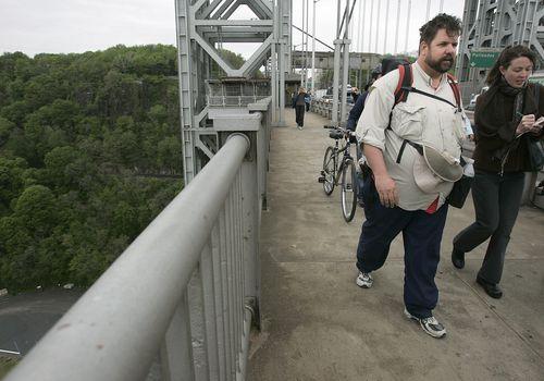 Steve Vaught, el hombre gordo caminando