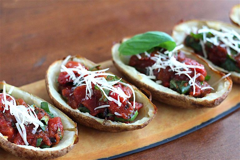 bruschetta potato skins