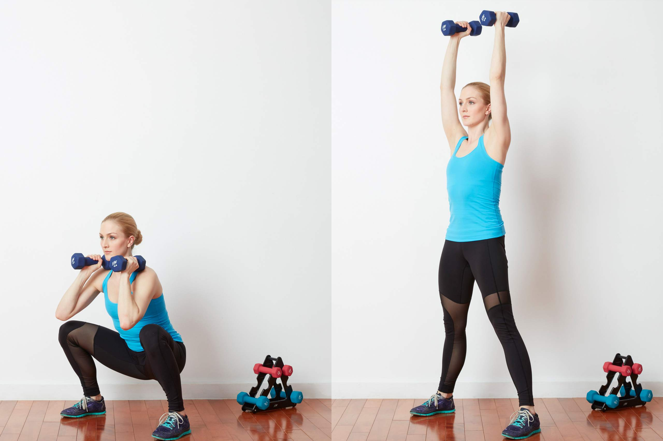 Squat, Curl, and Press Exercises for the Entire Body
