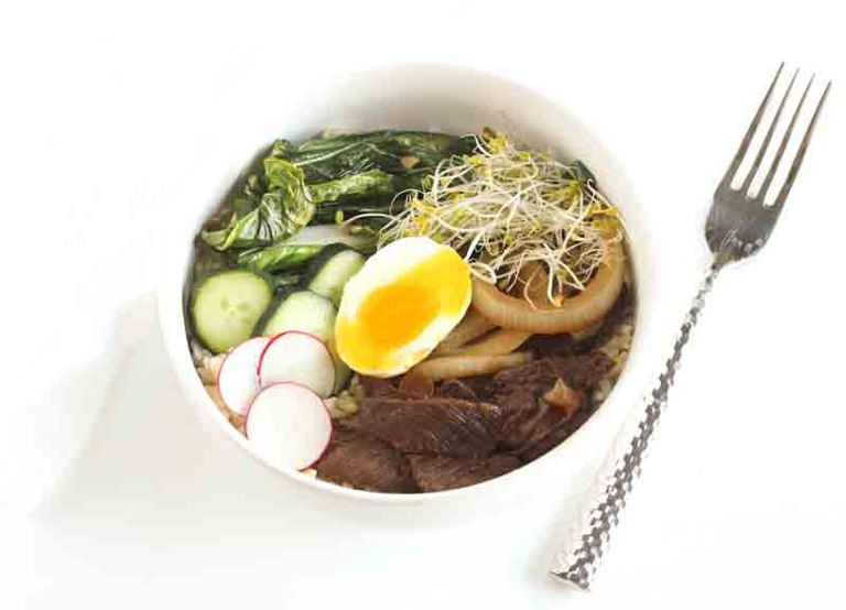 Healthy Filipino Steak Bowl Recipe