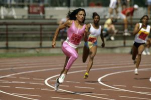 Florence Griffith Joyner at the 1988 Olympic Trials.
