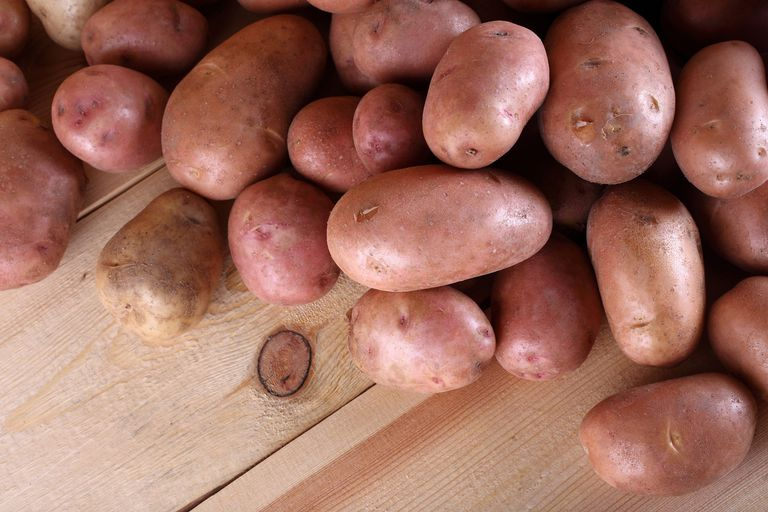 pink potatoes