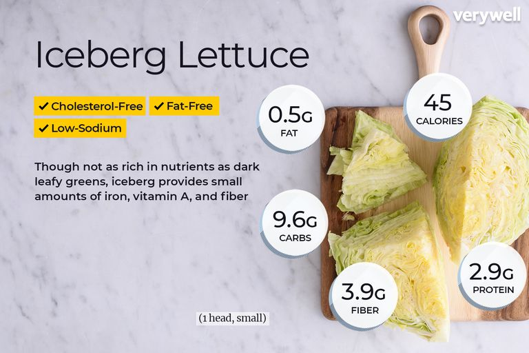 Iceberg lettuce, annotated