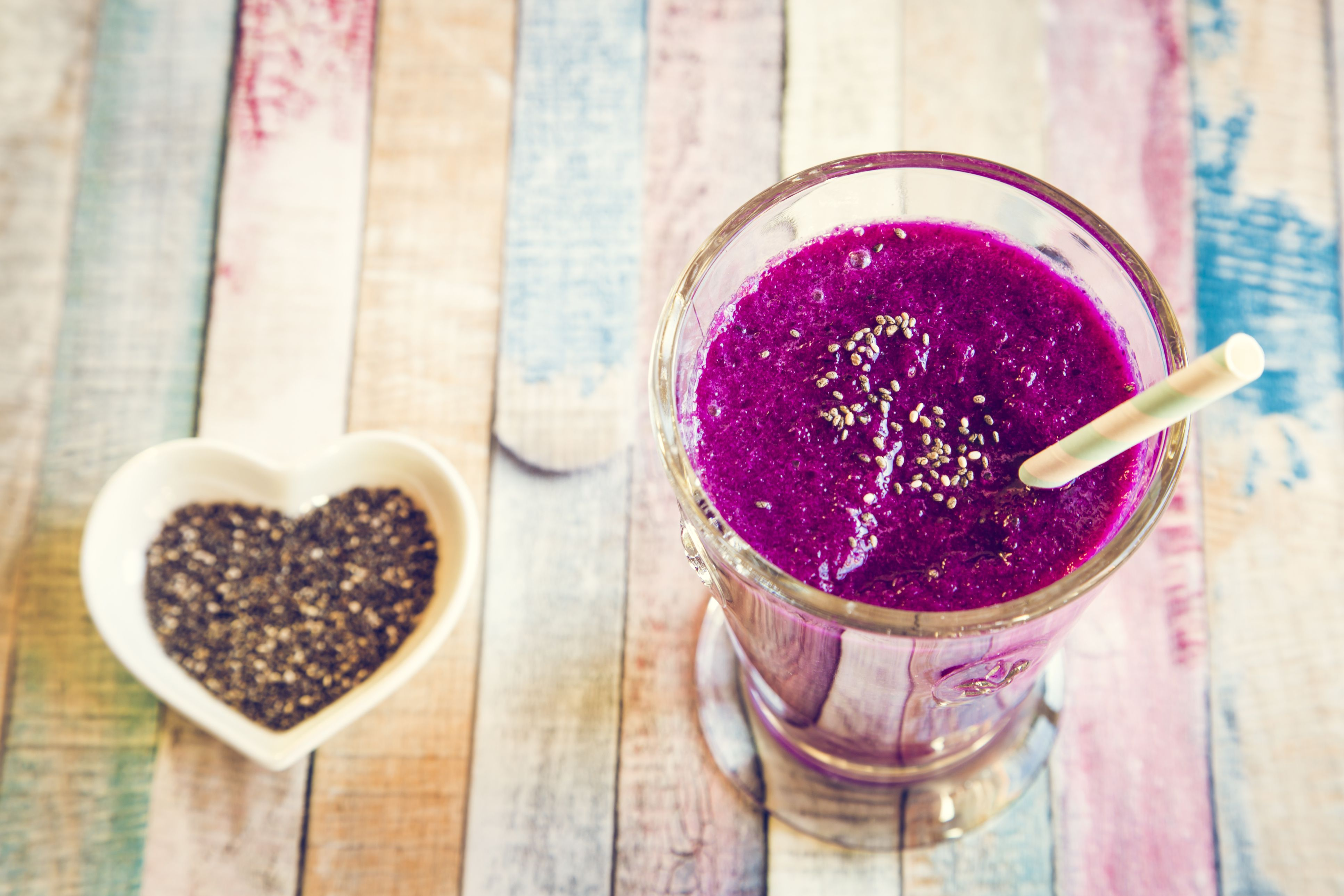 Blueberry Beet And Chia Smoothie Is Less Than 300 Calories