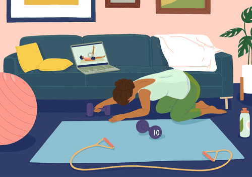 Setting you workout space at home.