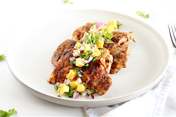 chipotle chicken with salsa
