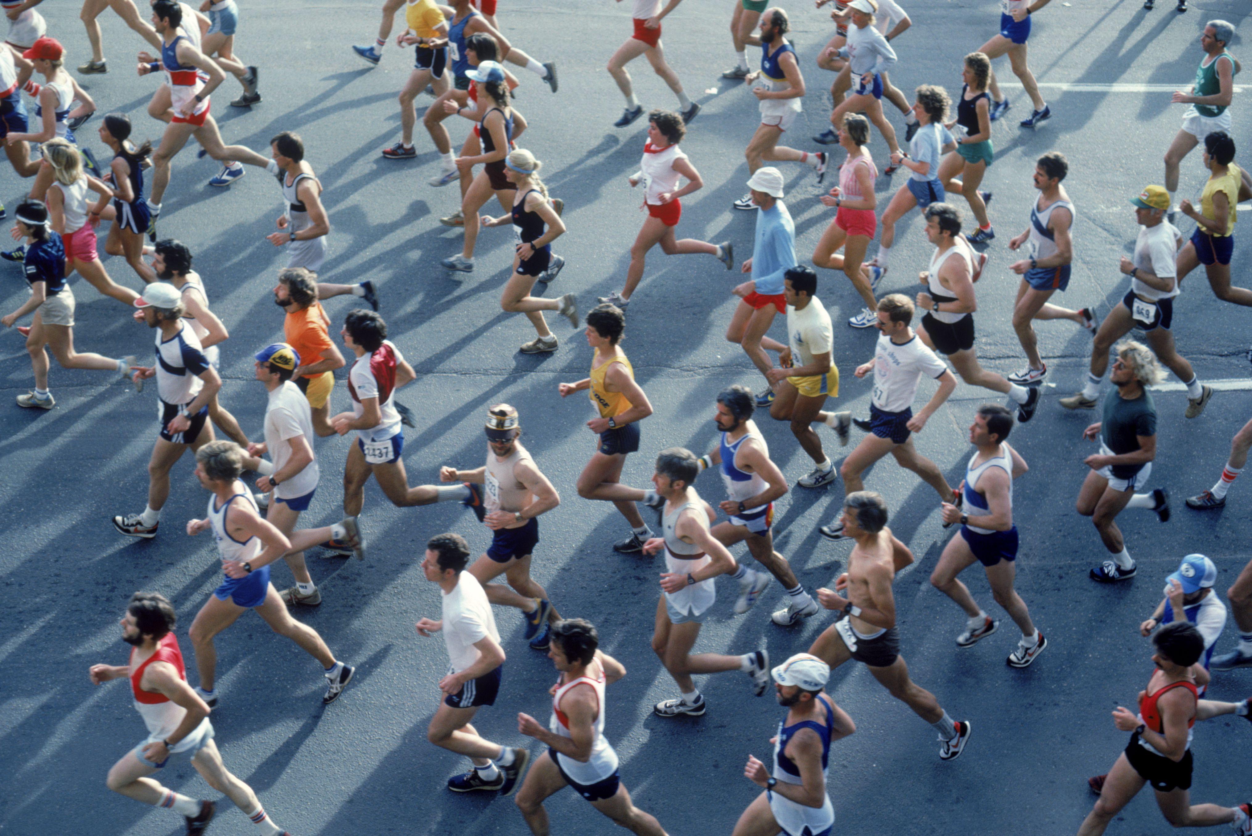 Corredores en maratón