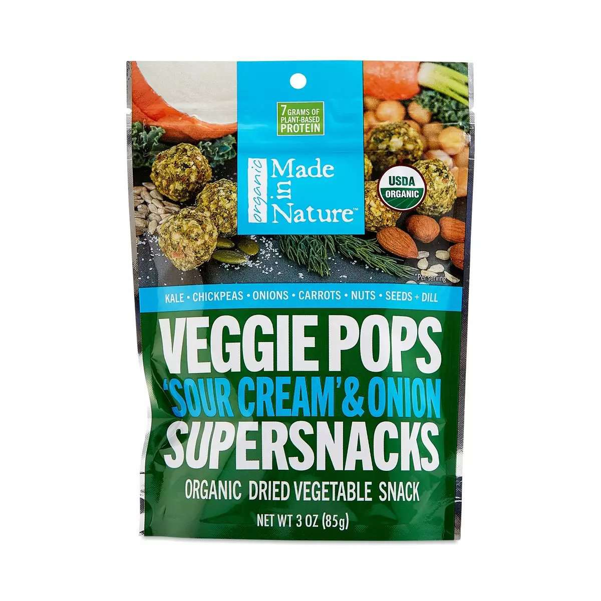 Made in Nature Organic Veggie Pops, Sour Cream & Onion
