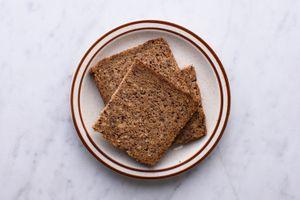 rye bread on a plate