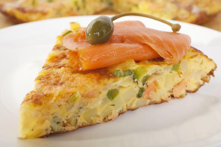 Crustless Salmon Quiche
