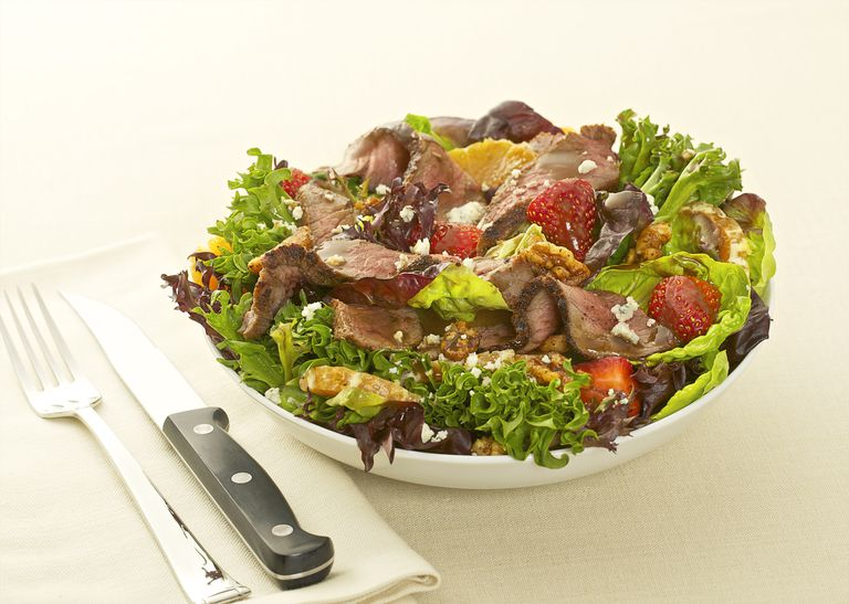 Heart Healthy Lean Steak Salad Meal