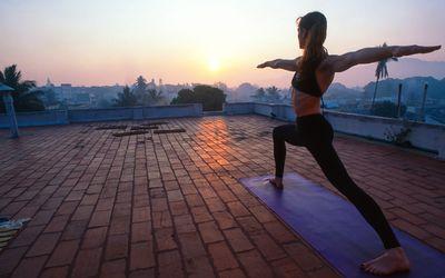 Yoga in Mysore. India