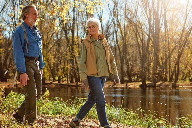 Senior Couple Walking