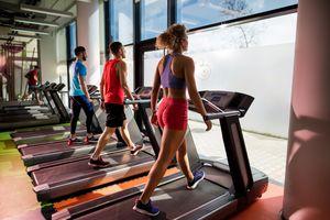 Treadmill Walking at the Gym