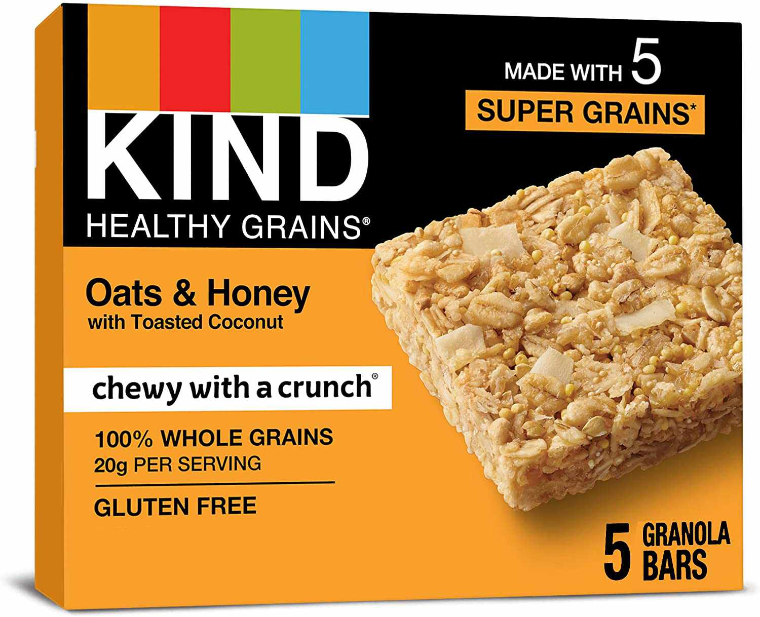 KIND Healthy Grains Oats & Honey with Toasted Coconut Bar