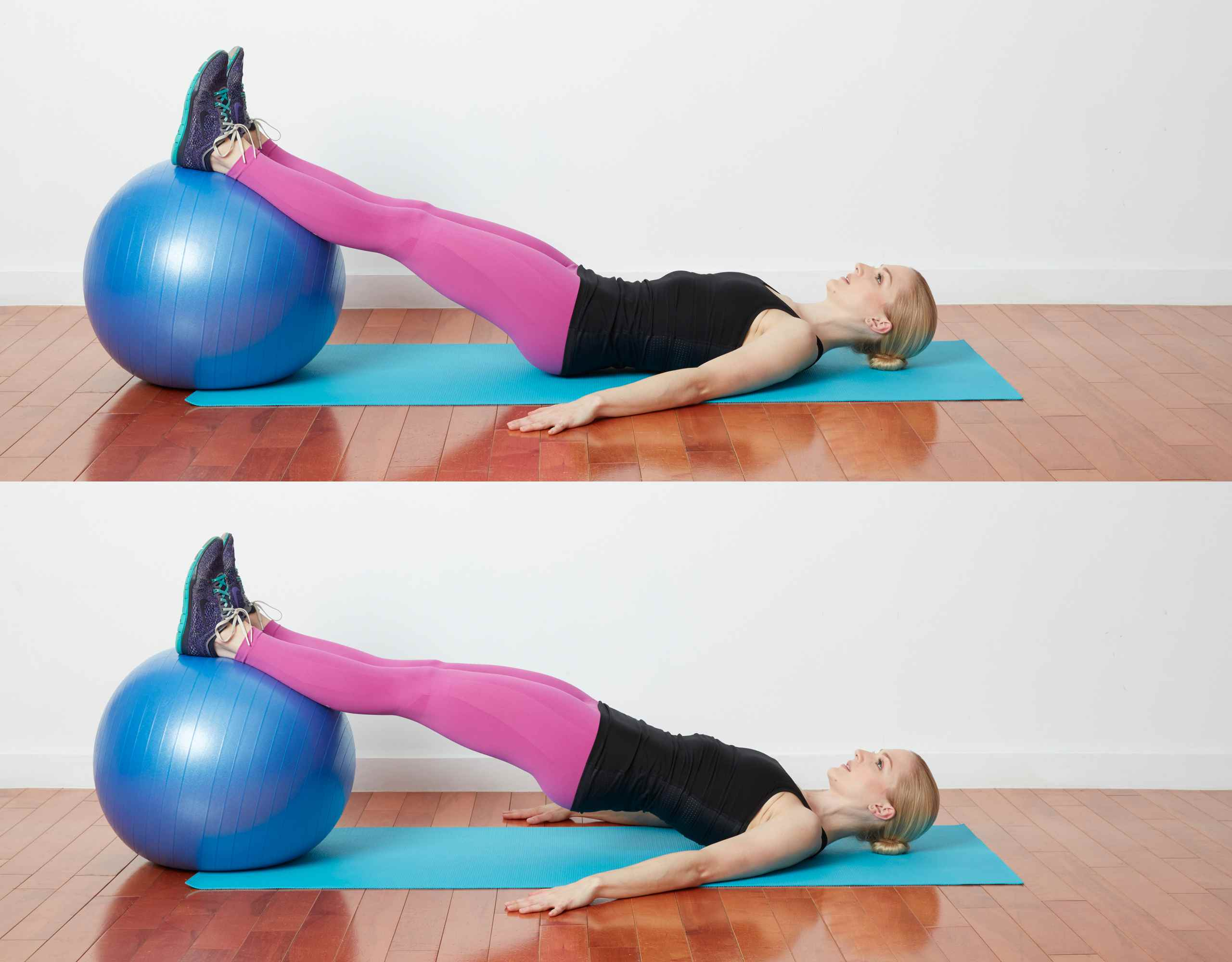 Hip Lifts on the Ball