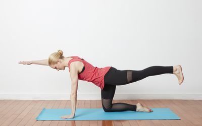 Strengthen Your Core With Hands And Knees Balance Yoga Pose