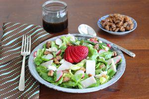 green strawberry salad