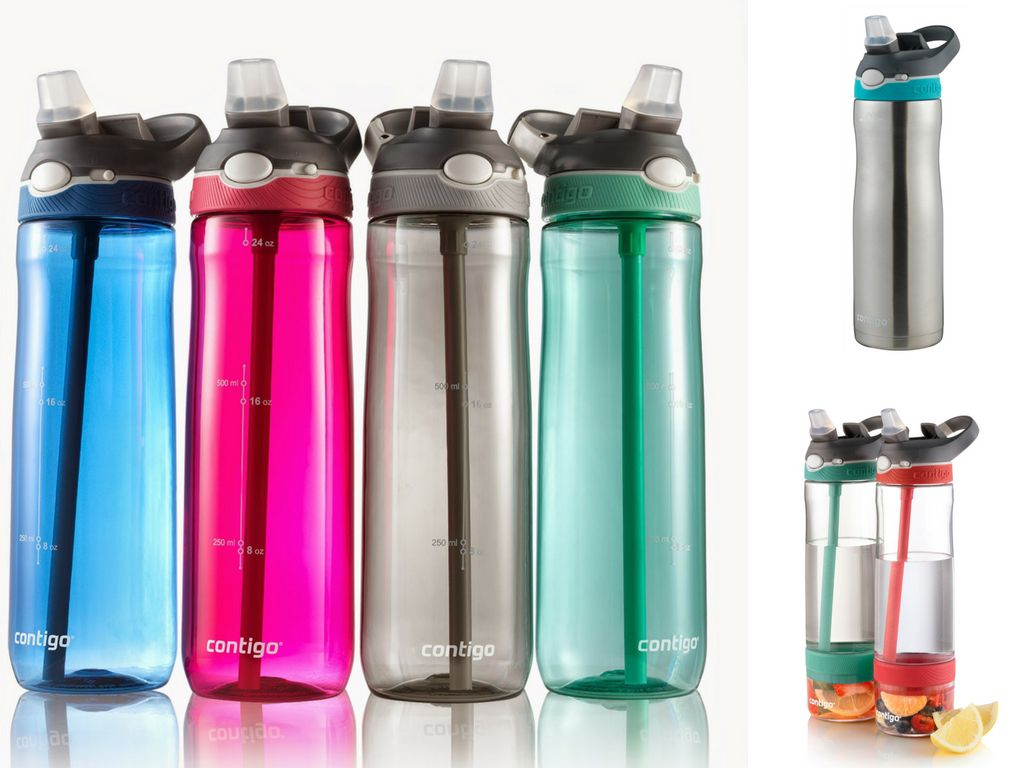 variedad de botellas de agua para hacer ejercicio