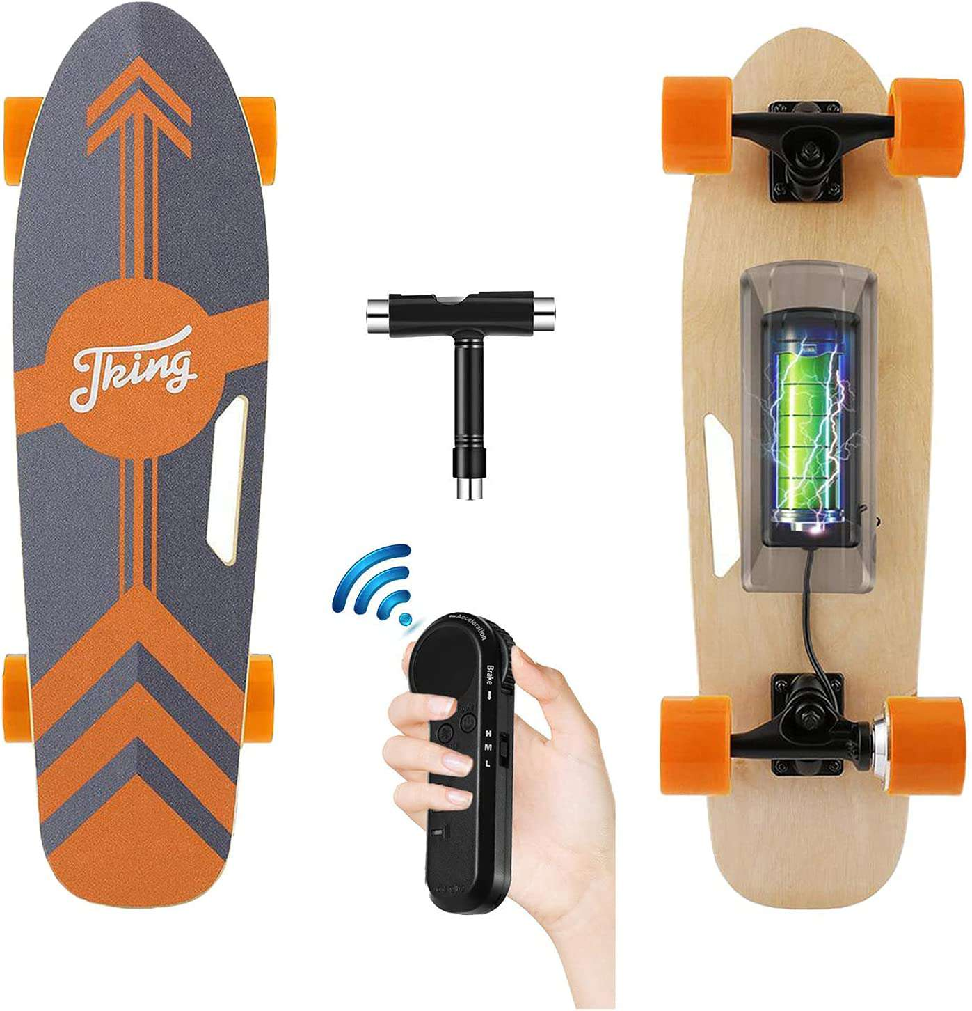 Tooluck Electric Skateboard with Remote