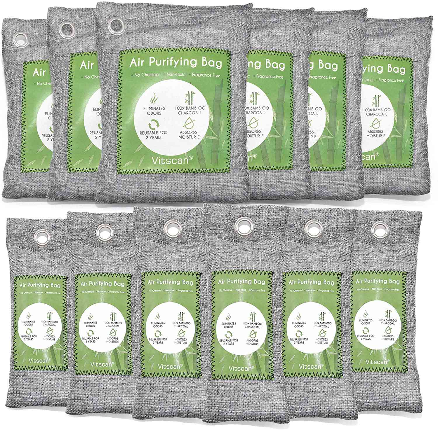 Vitscan Activated Charcoal Odor Absorber Bags