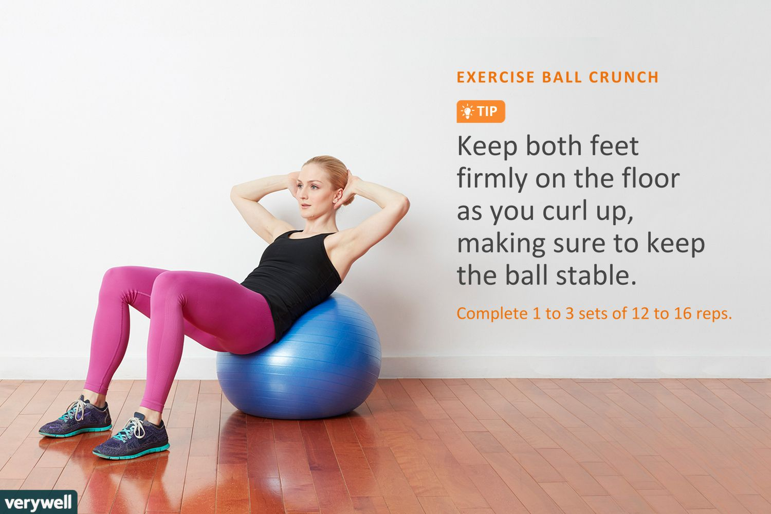 a44058bac woman doing exercise ball crunches