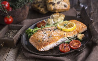 Fish is an excellent source of DHA