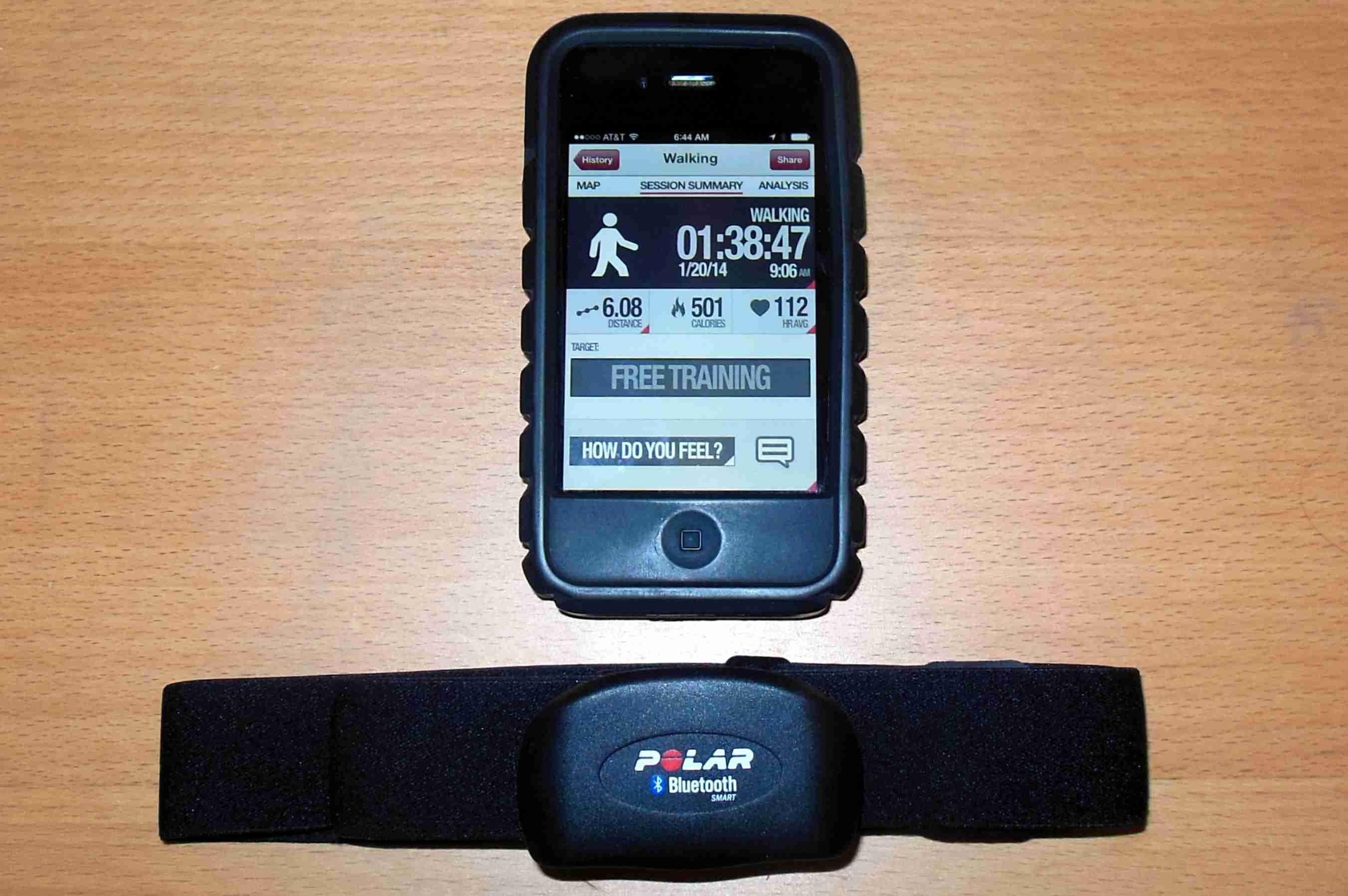 Polar H7 Bluetooth Chest Strap and Polar App