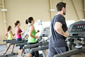 Runners on Treadmills in a Healthclub