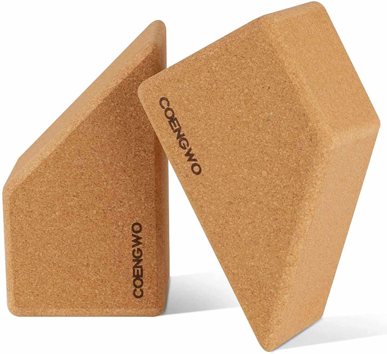 COENGWO Cork Yoga Blocks 2-Pack