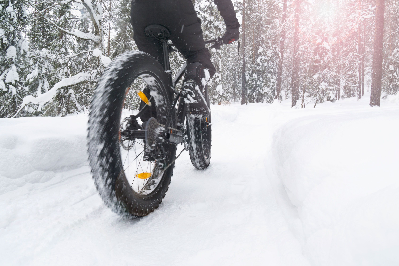 ciclismo gordo deporte de invierno