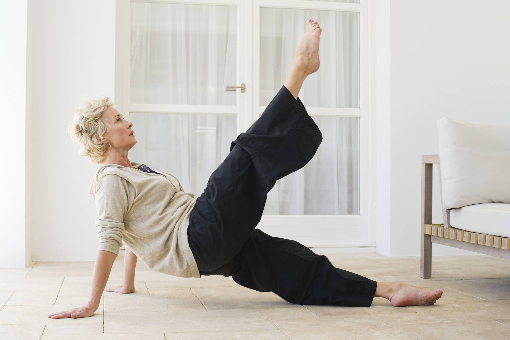 Pilates leg stretch