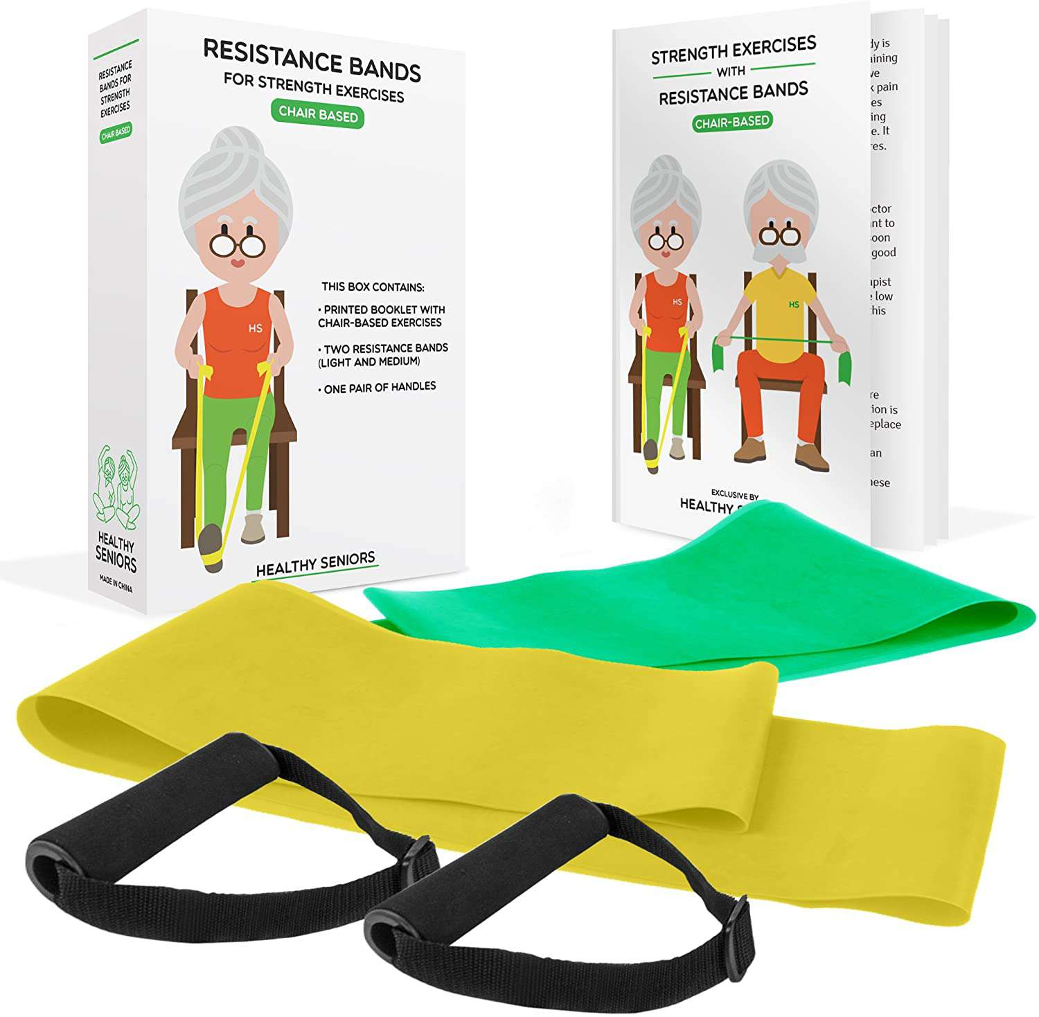 Healthy Seniors Chair Exercise Program with Two Resistance Bands
