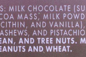 Food ingredients label