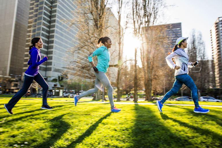 Women running outside