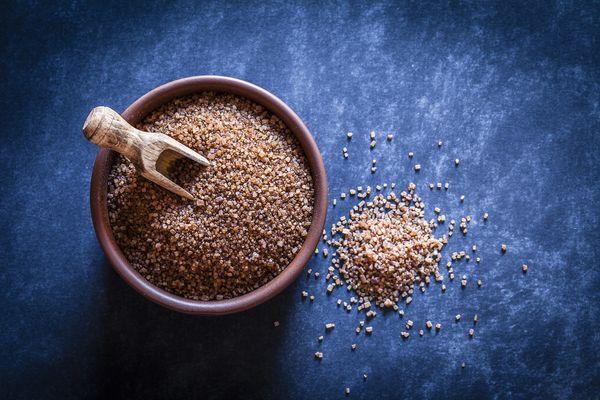 Organic brown sugar from sugar cane