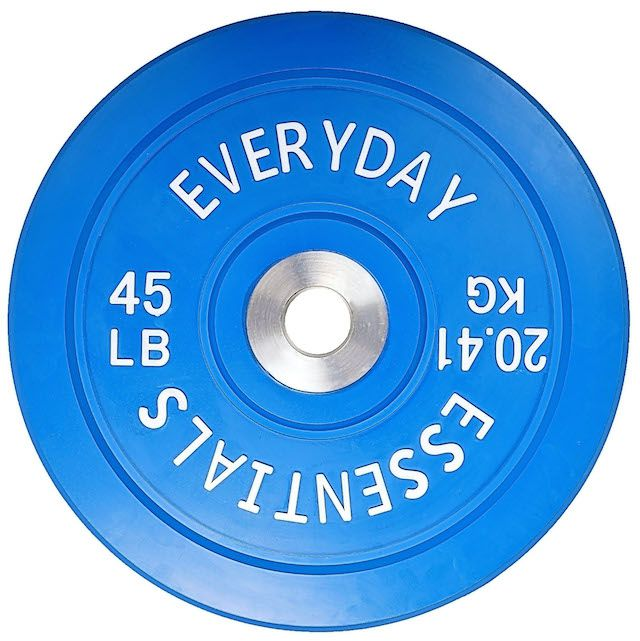 Everyday Essentials Color Coded Olympic Bumper Plate
