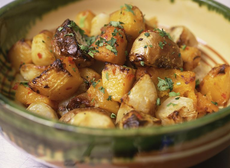 Herb roasted potatoes.