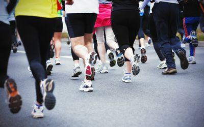 half marathoners in race