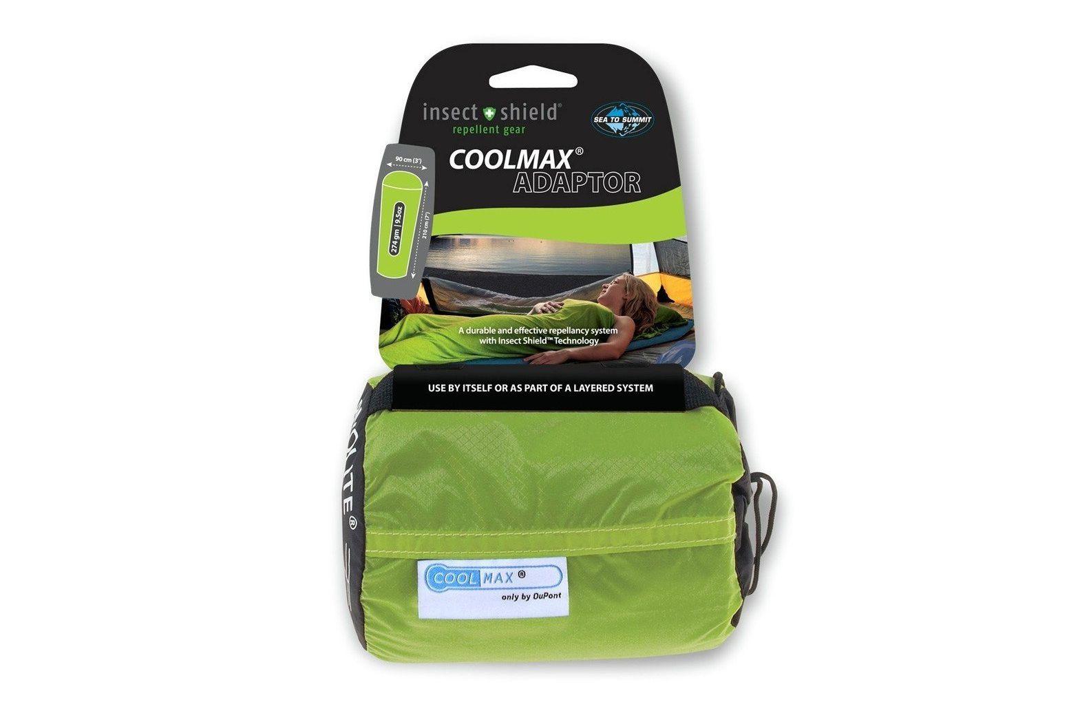 Liner adaptador Sea to Summit Coolmax con protector contra insectos