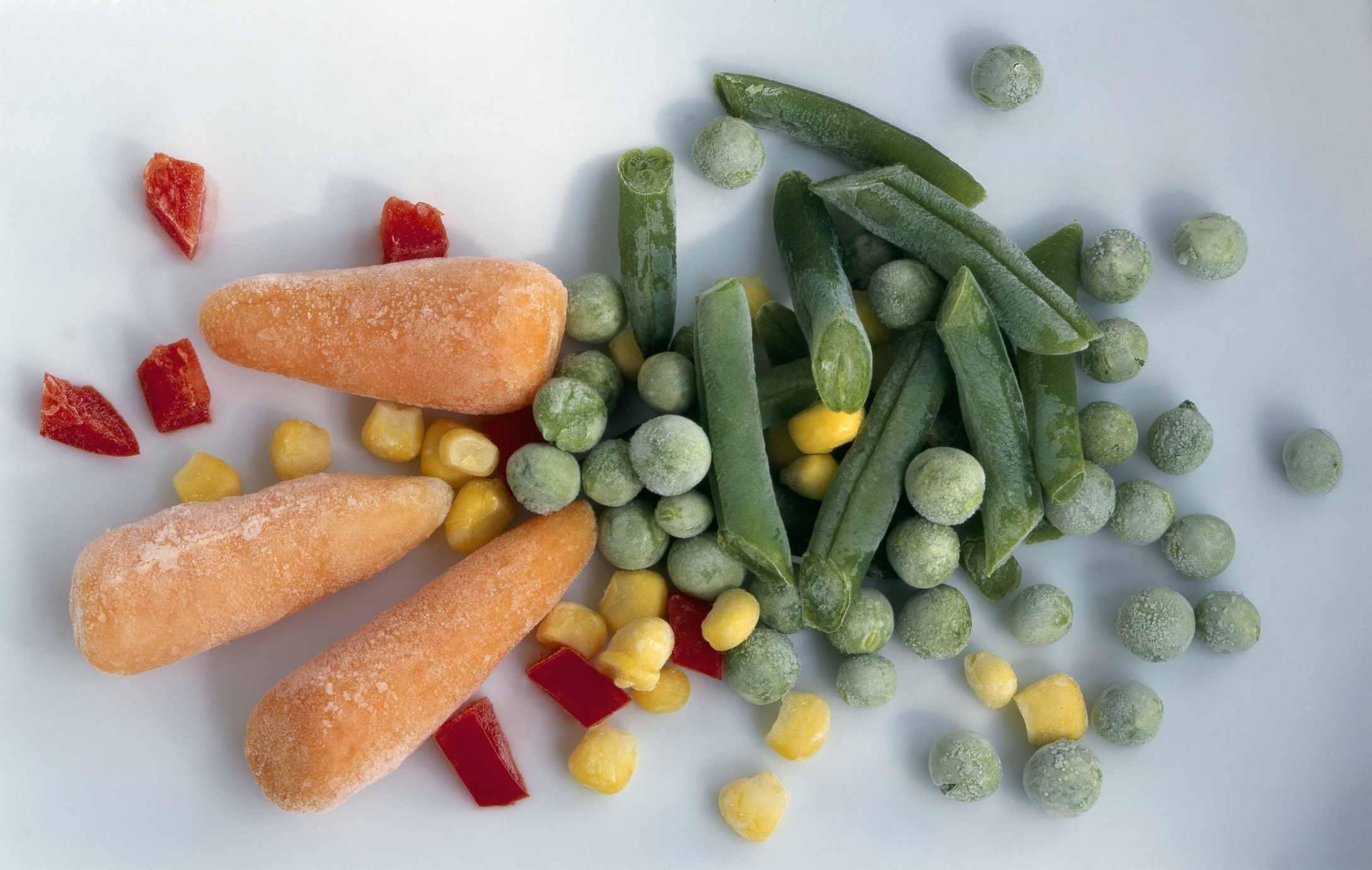 Frozen vegetables are good to buy in bulk.
