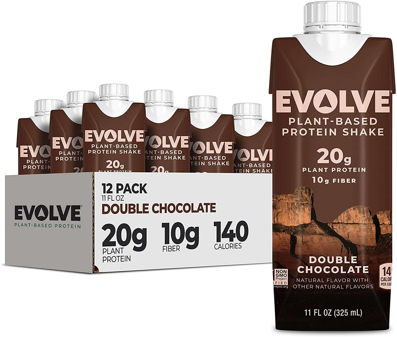 Evolve Plant Based Protein Shake, Double Chocolate, 20g Vegan Protein