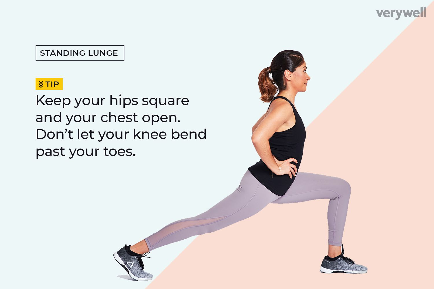 Woman performing standing lunge stretch
