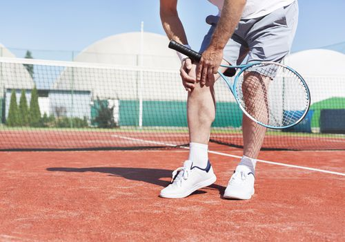 Man with Tennis Knee Injury