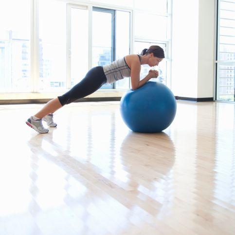 Plank on Balance Ball