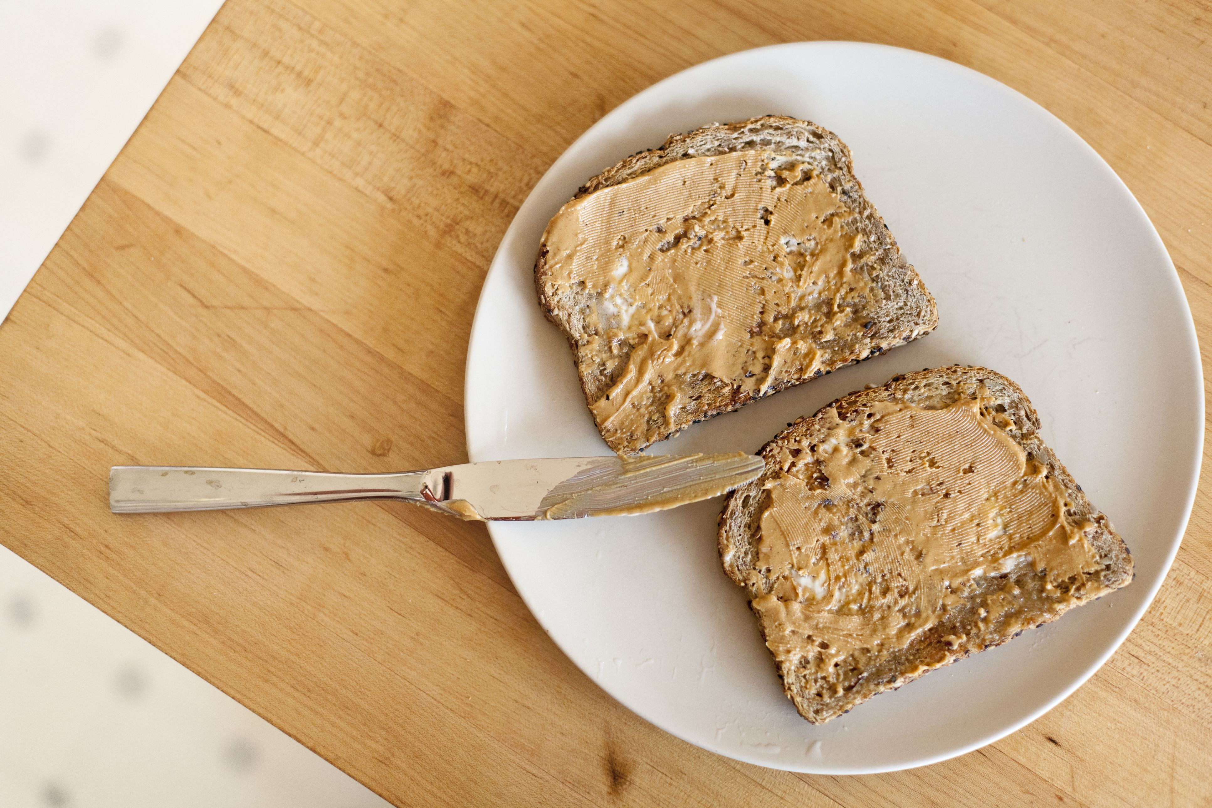 Have an Extra Slice of Whole Grain Toast With Peanut Butter at Breakfast